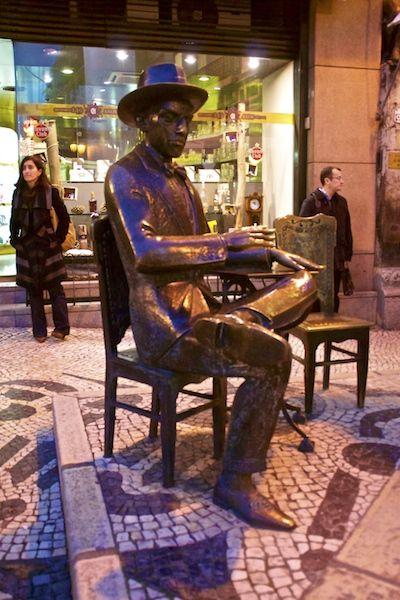 "Fernando Pessoa in ""A Brasileira"""