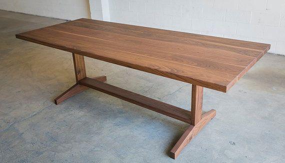 The Yates Walnut Trestle Dining Table furniture Pinterest