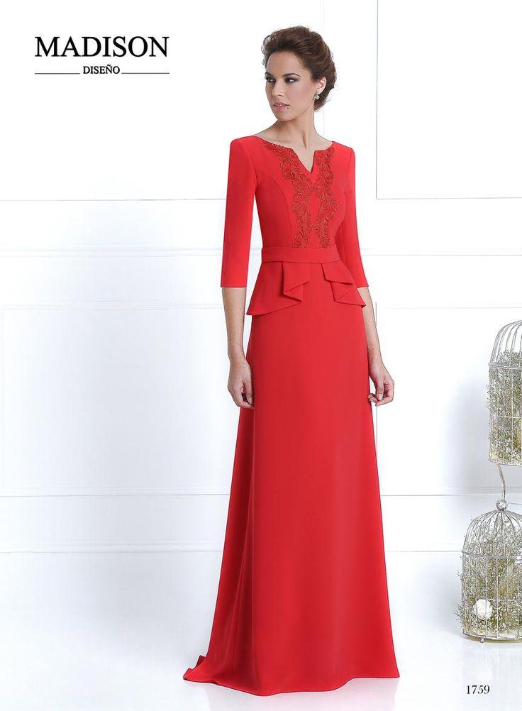 vestido de fiesta largo color rojo