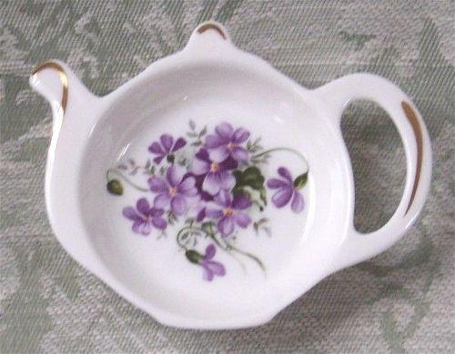 """Violet"" Tea Bag Tidy-tea bag tidy. tea bag caddy. Violets"