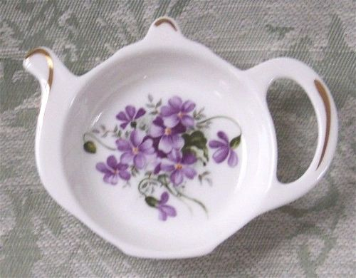 """Violet"" Tea Bag Tidy-tea bag tidy. tea bag caddy. Violets"