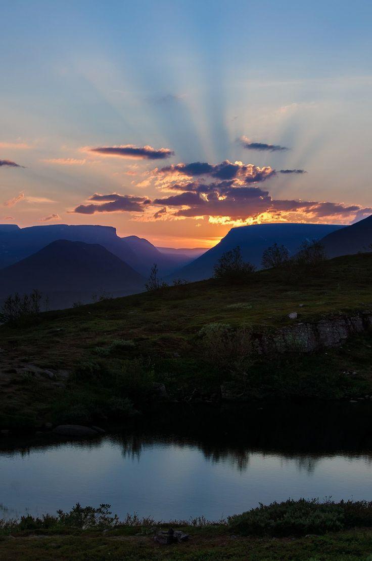 Закат в горах Хибины, Мурманская область