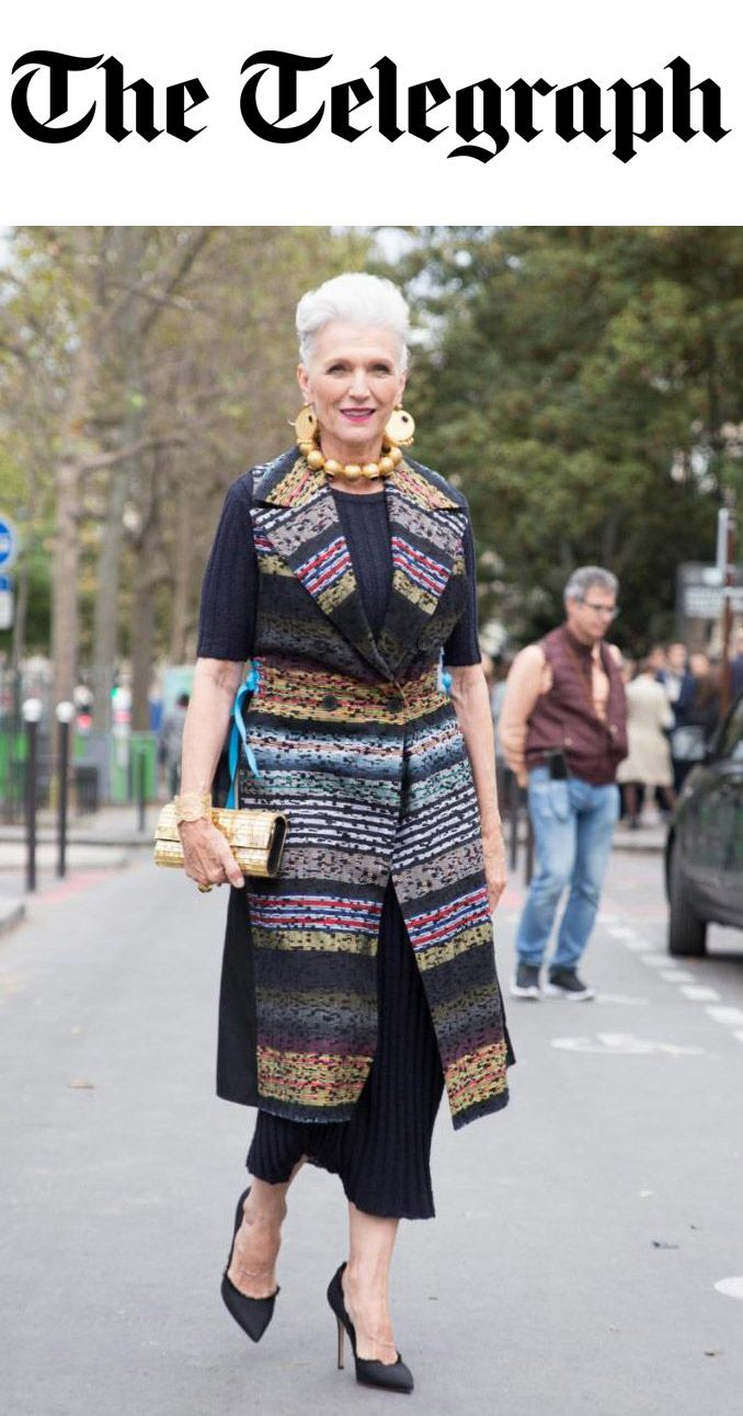 MODEL MAYE MUSK FEATURED IN THE TELEGRAPH WEARING NEHERA AT PARIS FASHION WEEK