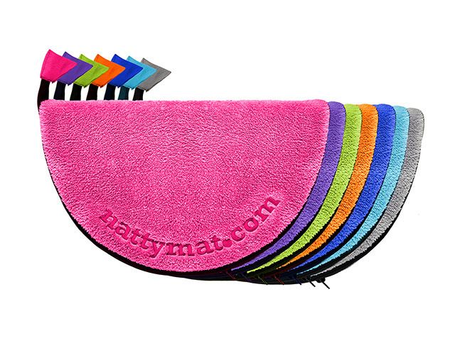 NATTYMAT A personal foot mat for gym and pool changing rooms by The Natty Team at NattyMat™
