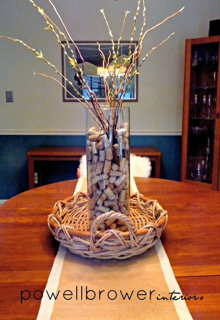 Cute idea to have cork collection in a vase! via Powell Brower At Home