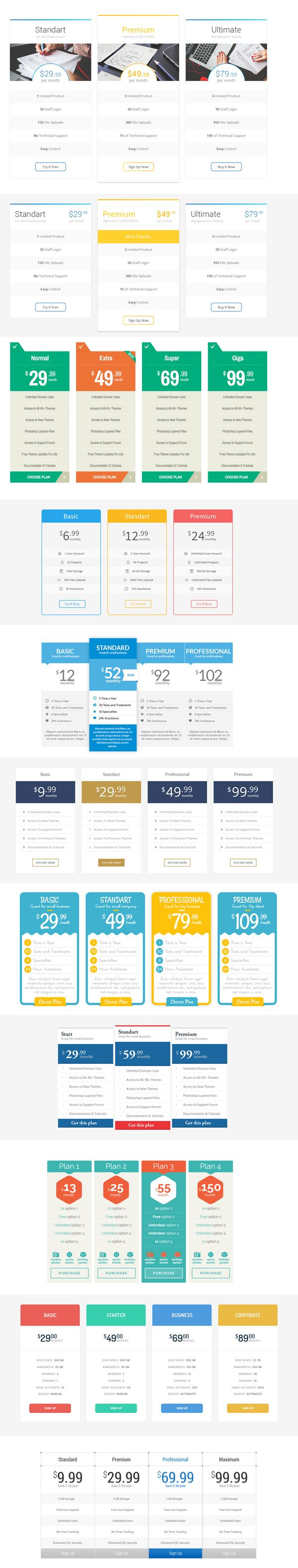 services web banner templates set price list buy book and real