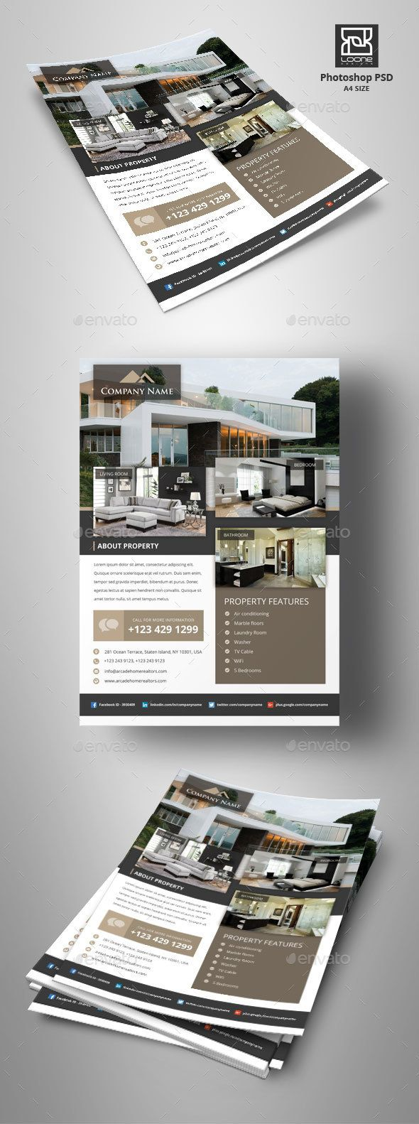 Real Estate Flyer - Corporate Flyers,#Real Estate #Flyer Download here: https://graphicriver.net/item/real-estate-flyer/20430157?ref=suz_562geid