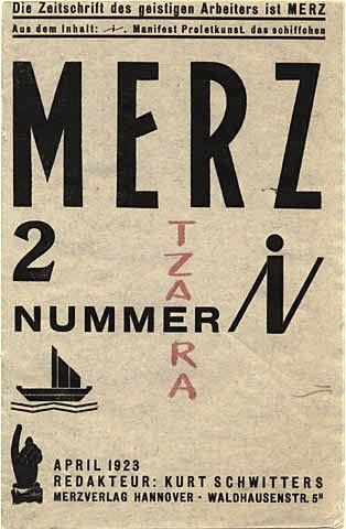 Merz N° 2 (April 1923) / Kurt Schwitters produced twenty-five issues of Merz between 1923 and 1932. This journal reflects Schwitters's negotiation of dada and Constructivism and his determination to develop and disseminate his single-member movement, 'Merz'.