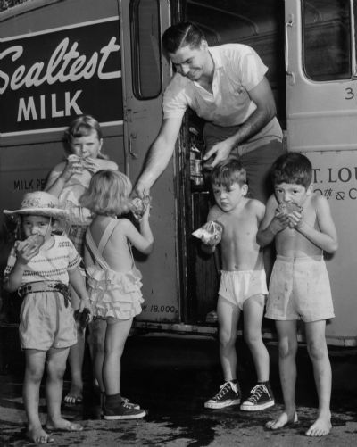 The old delivery trucks kept milk and other dairy products cold with ice, and drivers always made themselves popular among kids with gifts that they'd chop from the big ice blocks. Renyold Ferguson/Post-Dispatch