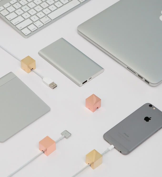 Cubic Cable Holder - Cable organizing accessory — That's it Magazine | Bloggers around the world. THATS IT is Inspired by fashion, art, culture, and life style