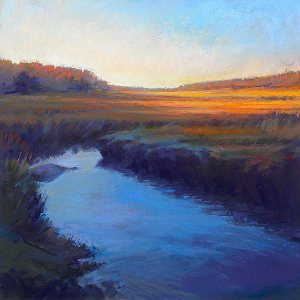 Ed Chesnovitch, Landscape Pastel Painting, Cape Cod, East
