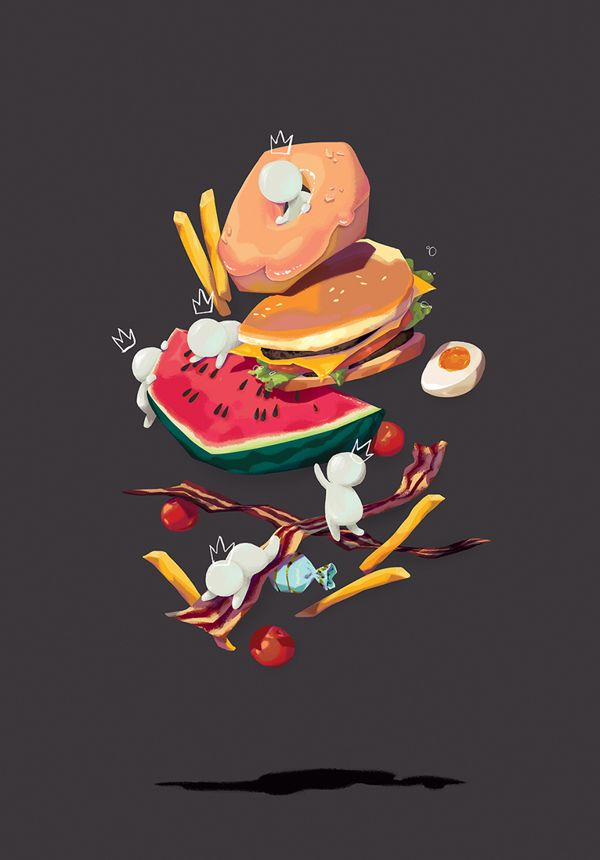 More Food! poster on Behance