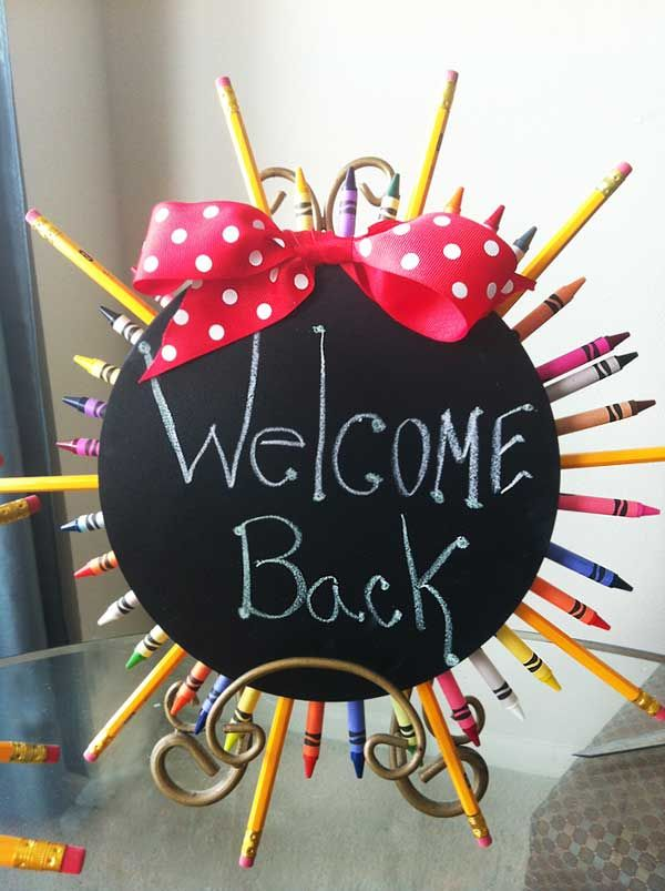"Back To School Party ""Welcome Back"" Sign"
