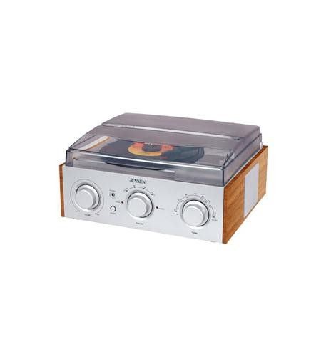 Spectra Merchandising JEN-JTA-220 3-Speed Stereo Turntable with AM/FM