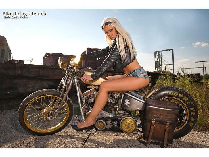 Harley Davidson rat--costum panhead fl - 1952 - alt undtagen motor og stel er...