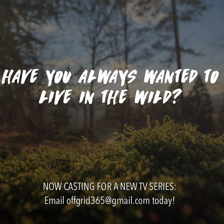 Now Casting: people with strong survival skills who've always wanted to live off the grid to star in a new TV series. To be considered email offgrid365@gmail.com #bushcraft #permaculture #offgrid #offthegrid #nature #survivalist #survival #outdoorsman #primitiveskills #hunting #foraging #camping #adventure #wildlife #wildlifephotography #tracking #cabin #homestead #hiking #adrenalinejunkie #yurt #native #landscape #naturephotography #landscapephotography #gopro #alaska #casting by joeyglany
