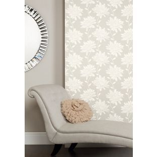 Laura Ashley - Josephine - Dove - Grey - Wallpaper from Homebase.co.uk