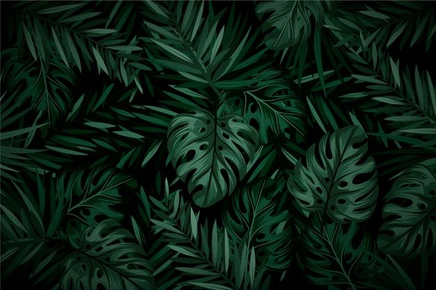 Download Realistic Dark Tropical Leaves Background For Free Dark Green Aesthetic Green Leaf Wallpaper Leaf Background Wallpaper cave vintage dark green