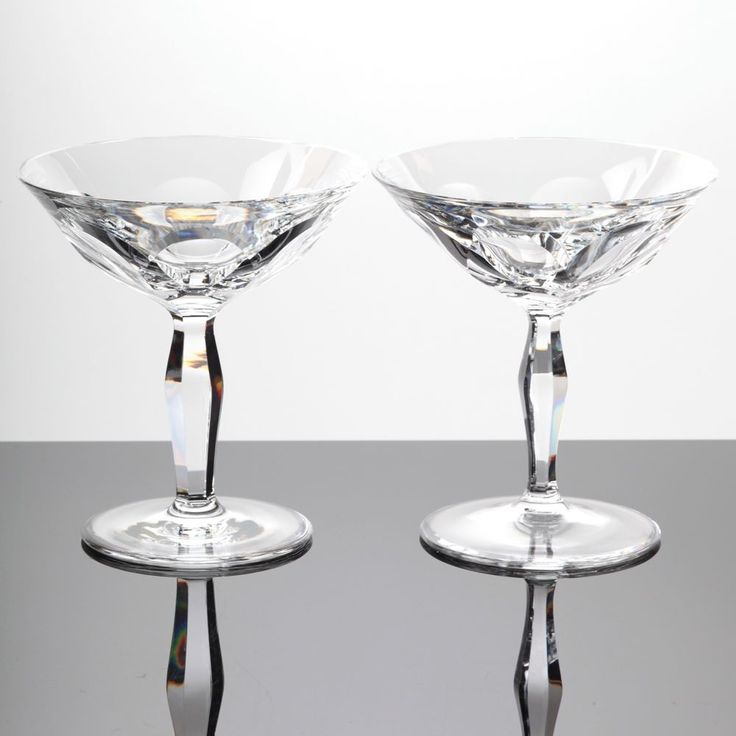 2 Sektschalen Vintage WMF Verena Bleikristall Glas Kristall Gläser ~ 60er Jahre