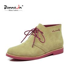 Donna_in 2016 new style cow suede leather ladies ankle boots women's flat lace up boots     Tag a friend who would love this!     FREE Shipping Worldwide     #Style #Fashion #Clothing    Get it here ---> http://www.alifashionmarket.com/products/donna_in-2016-new-style-cow-suede-leather-ladies-ankle-boots-womens-flat-lace-up-boots/