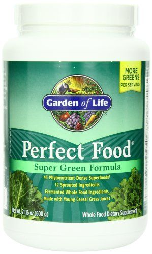Garden of Life Whole Food Vegetable Supplement - Perfect Food Green Superfood Dietary Powder 600g
