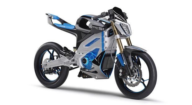 Yamaha puts lightweight PES1 electric motorcycle concept on display at the Tokyo Motor Show