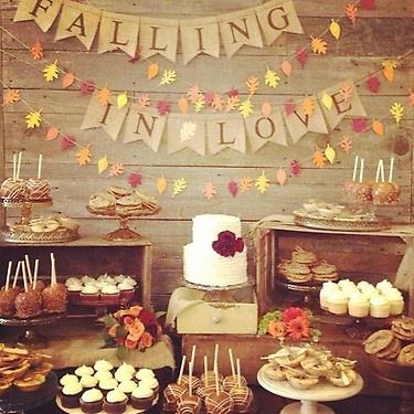 Falling In Love dessert table!
