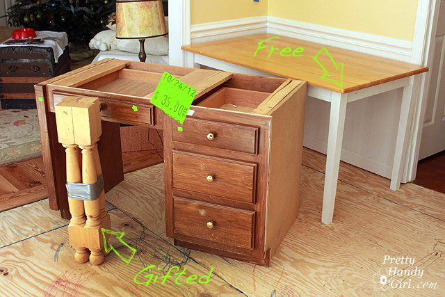 Countertop Height Desk : ... Height Desk on Pinterest Small Home Offices, Ruffle Duvet and Desks