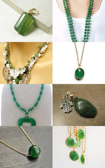 Green Jade Necklace by Jennifer Sham on Etsy--Pinned with TreasuryPin.com