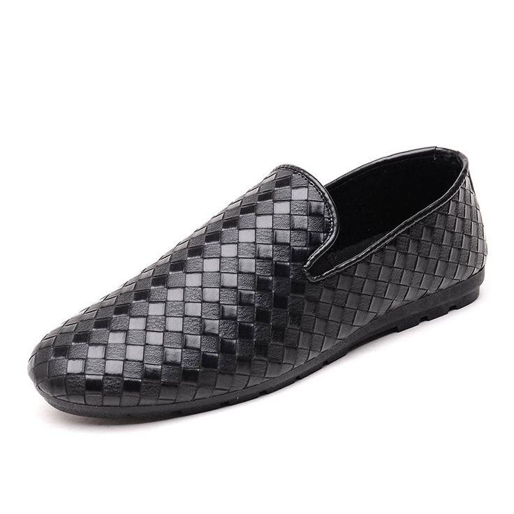 Driving Mode Hommes Chaussures Casual Mocassins en cuir de Penny avec Buckles Lazy Shoe 38-47 (noir, brun)
