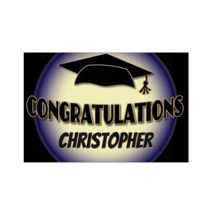 Congratulations Graduate Black and Gold Party Sign - graduation gifts giftideas idea party celebration