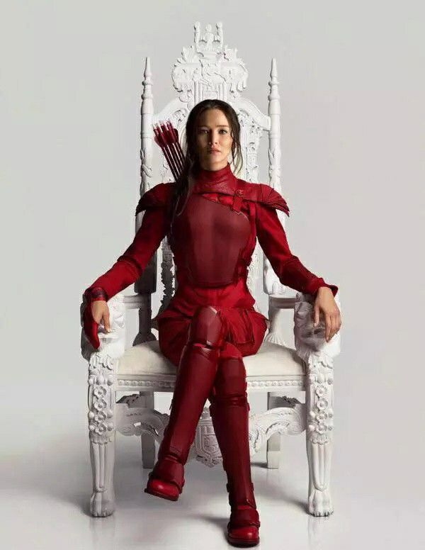 I got Katniss' first interview dress fits you to a T. (The bright red one.) Like this dress, you've got a lot of purposes and people better not underestimate you, 'cause one flick of the hip and here comes the FIYAH. Sssssss