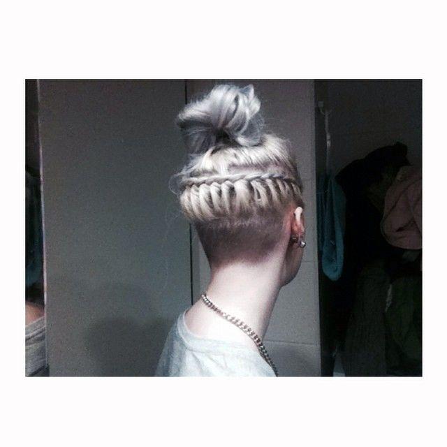 #finnishgirl #blonde #silverhair #undercut #braids