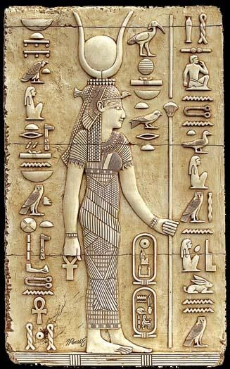 """Egyptian God: Isis – Goddess of magical power and healing, """"She of the Throne"""" who was represented as the throne. She was worshipped as the ideal mother and wife as well as the patroness of nature and magic. She was the friend of slaves, sinners, artisans, the downtrodden, but she also listened to the prayers of the wealthy, maidens, aristocrats, and rulers"""