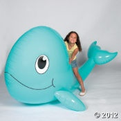 giant inflatable whale. Nothing but inflatables of all kinds....lots