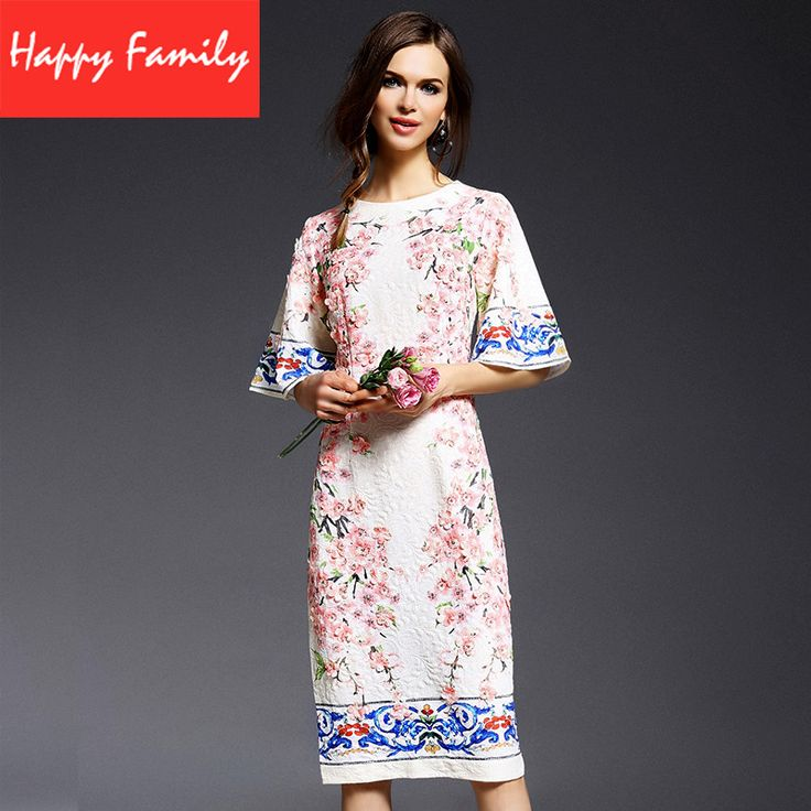 # Low Prices 2015 Summer Fashion Runway Womens Peach Flower Appliques Half Flare Sleeve Vintage Printed Straight Knee-length Dress [jhZbN7FE] Black Friday 2015 Summer Fashion Runway Womens Peach Flower Appliques Half Flare Sleeve Vintage Printed Straight Knee-length Dress [hxwXr1j] Cyber Monday [d7JwNu]