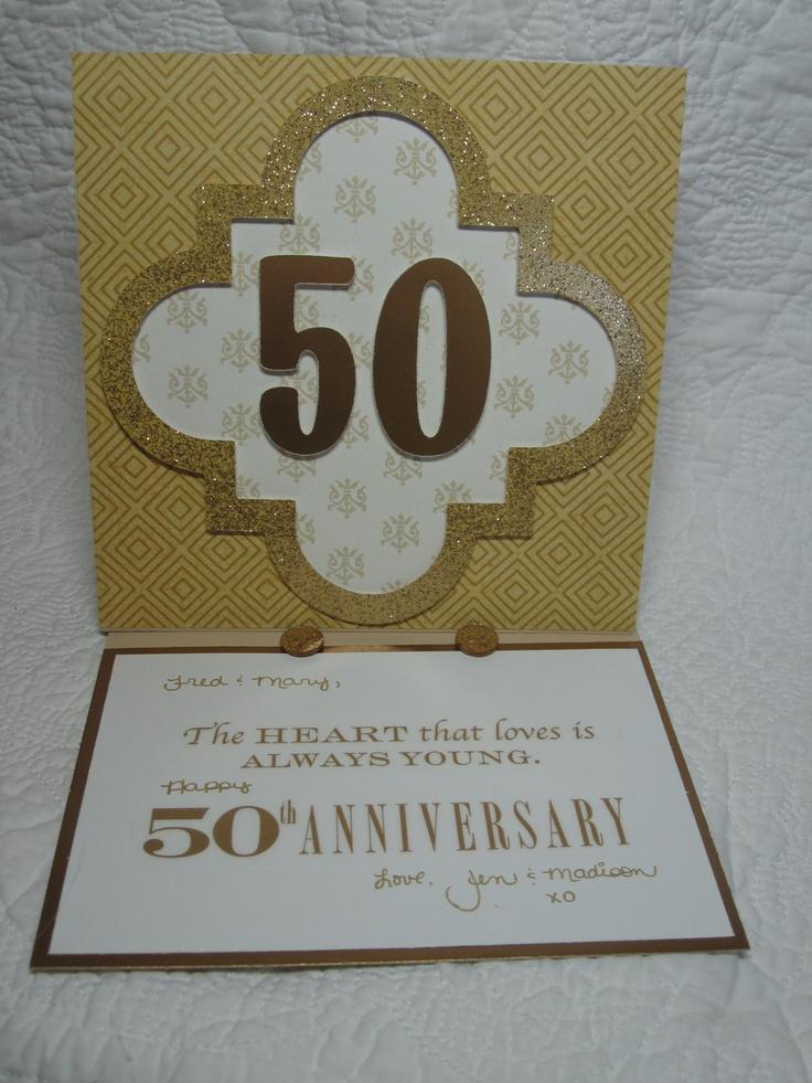 golden wedding card making ideas%0A Golden Anniversary Card with the Cricut