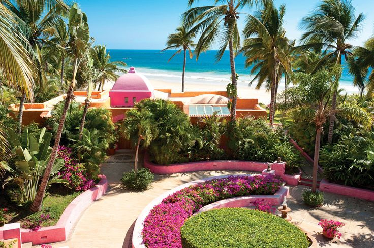 When Hollywood's A-listers take time out they head to Las Alamandas Resort on the Mexican Riviera. The casitas combine rainbow-bright hues with local fabrics, furniture and folk art. Some have infinity pools, daybeds and Jacuzzis; all have huge bathrooms, sofas and hammock-strewn verandas and terraces looking out across the pounding Pacific.