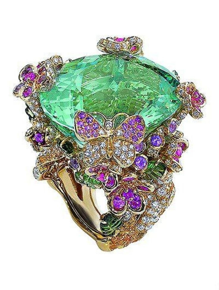 DIOR Garden themed Ring | ART beauty bling jewelry fashion  ♥•♥•♥
