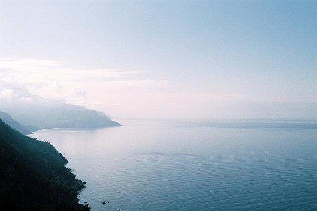 endless sky and ocean.