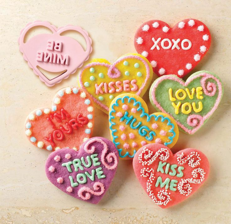 Conversation Heart Cookie Cutters with Stamps  $20.00 http://www.fancyflours.com/product/Conversation_Heart-Cookie-Cutters-and-Stamps/s