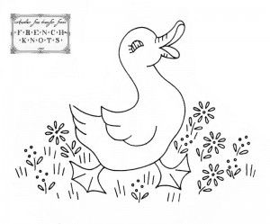 duck embroidery transfer pattern...check out this site...it is wonderful