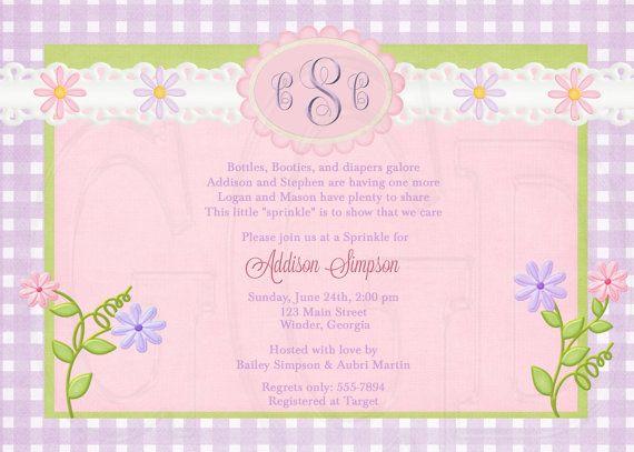 Daisy Baby Shower Sprinkle or Birthday by graciegirldesigns77, $12.00