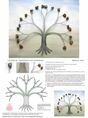 Tree  Klöppeln, Klöppelbrief, Erzgebirge, Annaberg-Buchholz, Volkskunst, Klöppelmädel Design