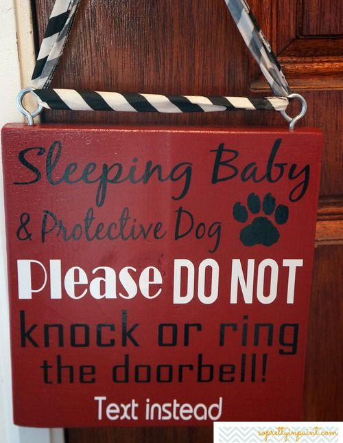 oh this is perfect! Even without a baby the dogs barking when the bell rings is sooo annoying lol