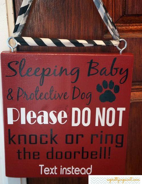 Sleeping Baby & Protective Dog
