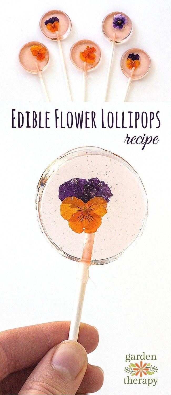 How to Make Edible Flower Lollipops