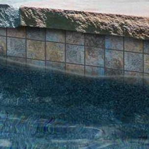 National Pool Tile Raku 2x2 Series Cobalt Blue Rucobalt