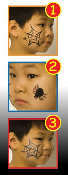 COPIE DE HALLOWEEN WITCH face painting with sticks for girls