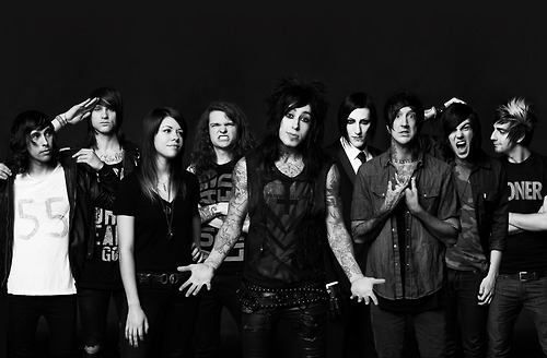 Favorite. Vic Fuentes (Pierce The Veil), Beau Bokan (Blessthefall), Tay Jardine (We Are The In Crowd), Levi Benton (Miss May I), Ronnie Radke (Falling In Reverse), Chris Motionless (Motionless In White), Austin Carlile (Of Mice & Men), Kellin Quinn (Sleeping With Sirens), and Jack Barakat (All Time Low)